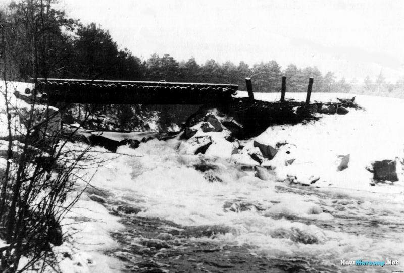 Цюрупинский мостик. Фото 1962 года