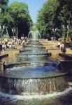 Каскадный фонтан в парке Гагарина