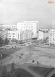 Площадь и улица Ленина. Строительство гостиницы.