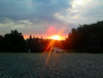 Монумент славы, заход солнца