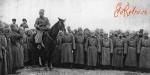 Император Николай II на параде русских генералов и офицеров