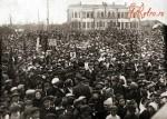 Митинг по случаю празднования Октябрской революции
